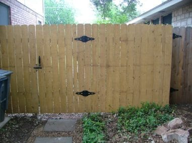 Wooden Fence & Gate - Leander, TX