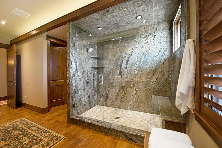 Stone Granite Bathroom Walls - Cedar Park Leander Lago Vista TX